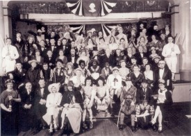 """Women-less Wedding Fundrasier"" circa 1935 2nd floor of the old firehouse. Walter Sullivan (grandfather of Jay Anderson) 1st row, 2nd from right"