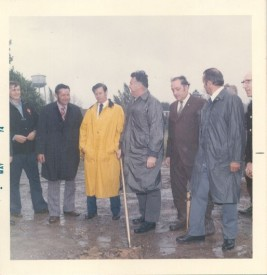 Ground Breaking for current firehouse May 1974. L-R; Dana Seipp, John Korman, John Lang, Herman Hare, Robert Wheeler, Wally Boston, Ed Snyder