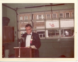 "Herman ""Bud"" Hare in black tie at the Westminster Fire Station early 70's?"