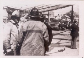 Spring Garden Hotel Fire Early 70's 4th Asst. Chief Frank Bauerlein conferring with crews