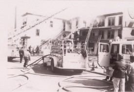 Spring Garden Hotel Fire Early 70's E-23 from Hampstead operating with driver Sam Bellusci
