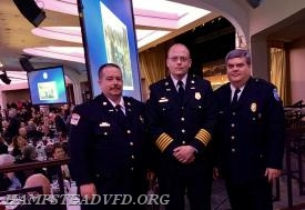 (L-R) HVFC Captain JJ Lynott, HVFC Chief Nick Thompson and HVFC Member and Maryland State Firemen's Association 1st Vice President Mark Bilger.