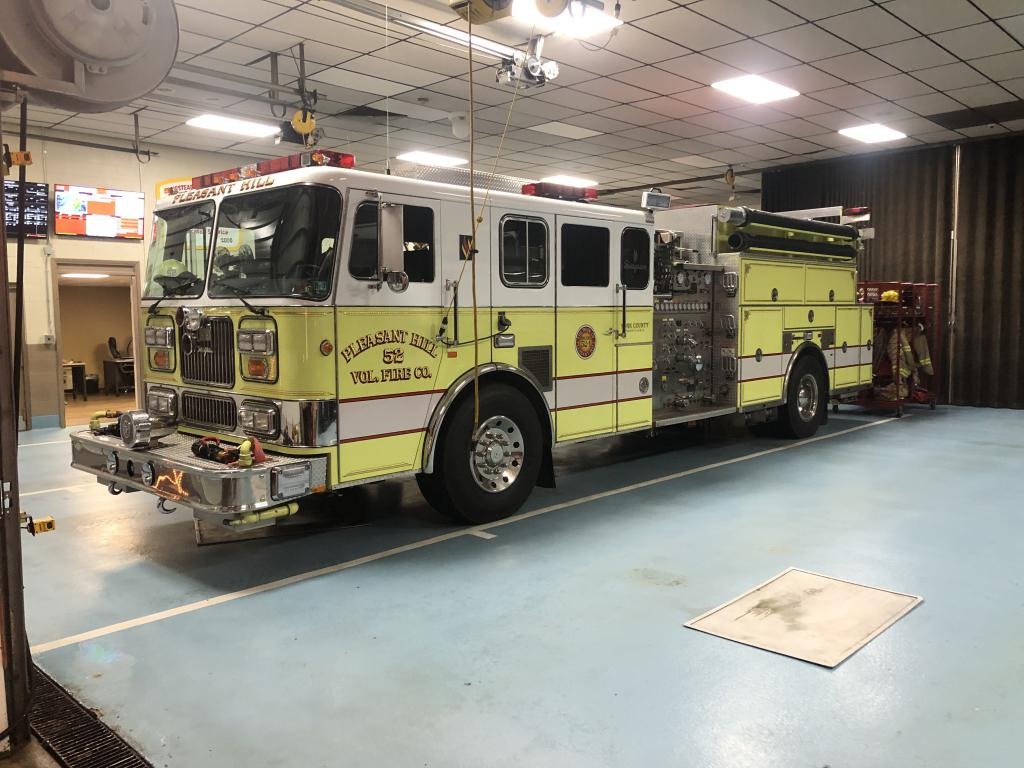 Engine 52-1 filling in our station 2 while crews operated on the fire.